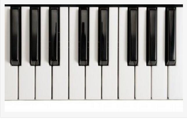 钢琴高音谱号表